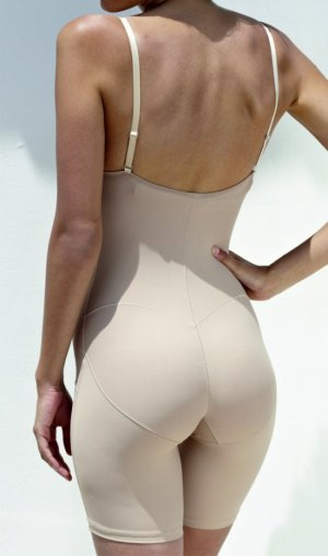 "Anti-cellulite mini shorts ""Biofit"", nude colour, with adjustable and detachable straps."